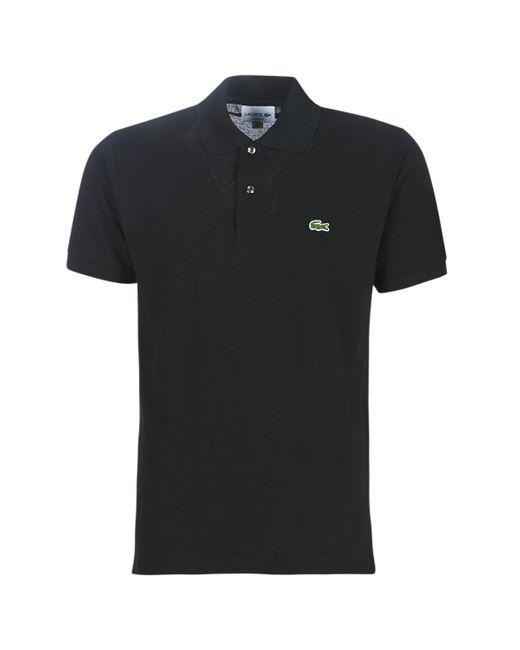 Lacoste Polo Shirt Korte Mouw Polo L12 12 Regular in het Black voor heren