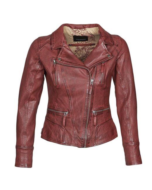 Oakwood Red Camera Leather Jacket