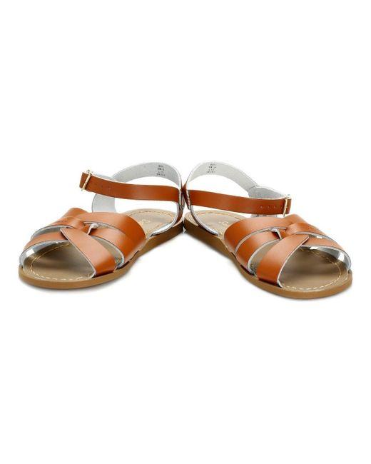 Salt Water Brown Womens Tan Original Sandals