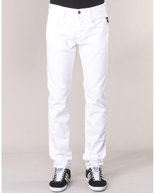 Replay ANBASS hommes Jeans en blanc