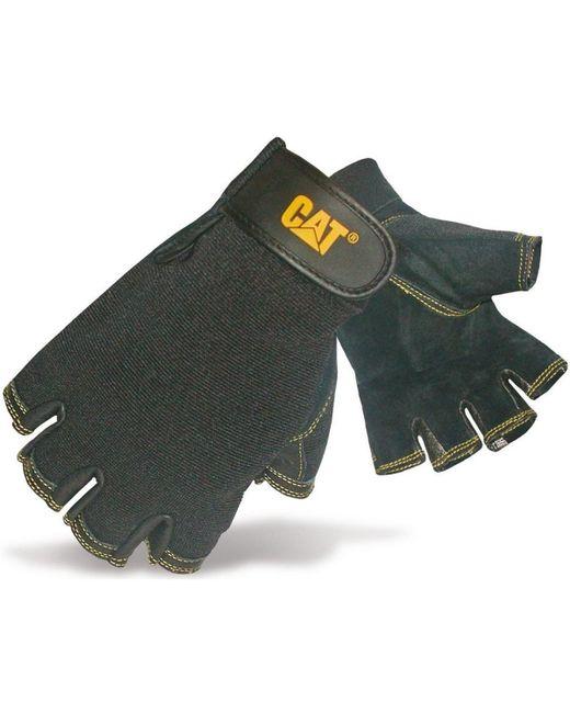 Leather Fingerless Gloves hommes Gants en Noir Caterpillar pour homme en coloris Black