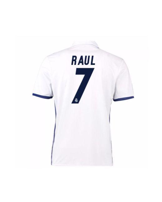 329d9b3fe2a ... Adidas - 2016-17 Real Madrid Home Shirt (raul 7) Women s T Shirt ...