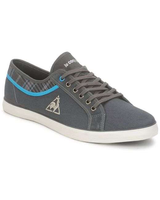 Le Coq Sportif | Gray Honfleur Plaid Women's Shoes (trainers) In Grey | Lyst