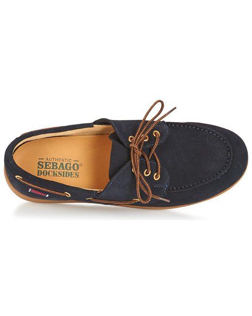 Jobson Docksides Men's Boat Shoes In Blue