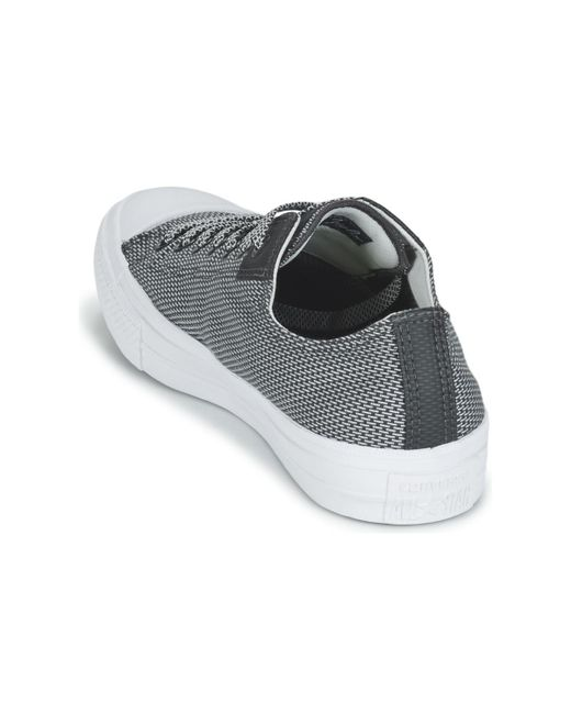 b865f80c107c2c ... Converse - Gray Chuck Taylor All Star Ii Basketweave Fuse Ox Men s Shoes  (trainers) ...
