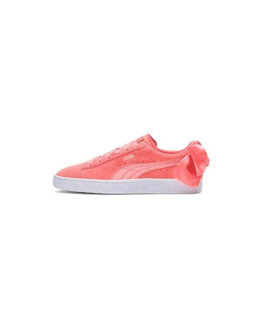 Basket Suede Chaussures PUMA en coloris Pink