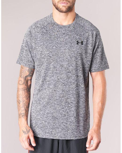 bb36094d ... Under Armour - Gray Ua Tech Ss Tee T Shirt for Men - Lyst ...