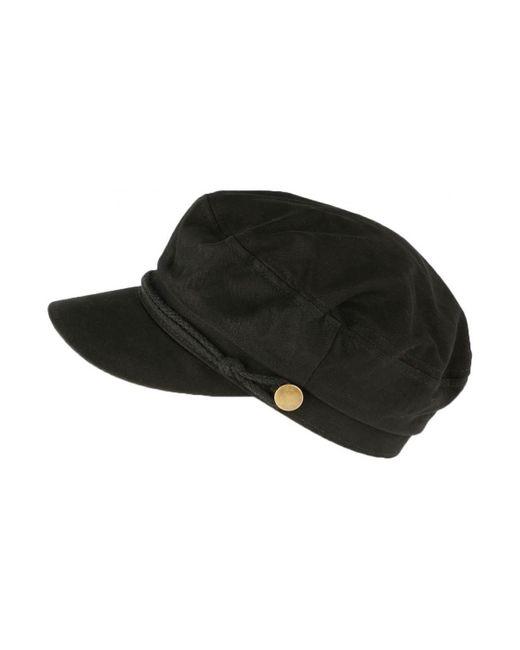 Casquette de marin Noire tendance coton Flybust Casquette Léon Montane en coloris Black