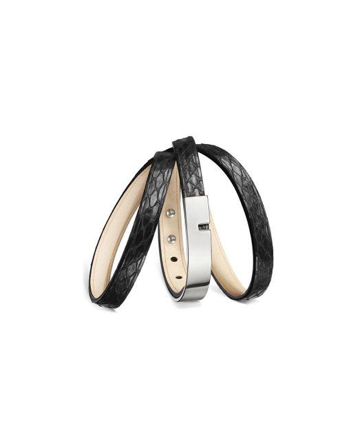 Ursul - Bracelet U-turn Triple Snake Black / Silver Woman Autumn/winter Women's Bracelet In Black - Lyst