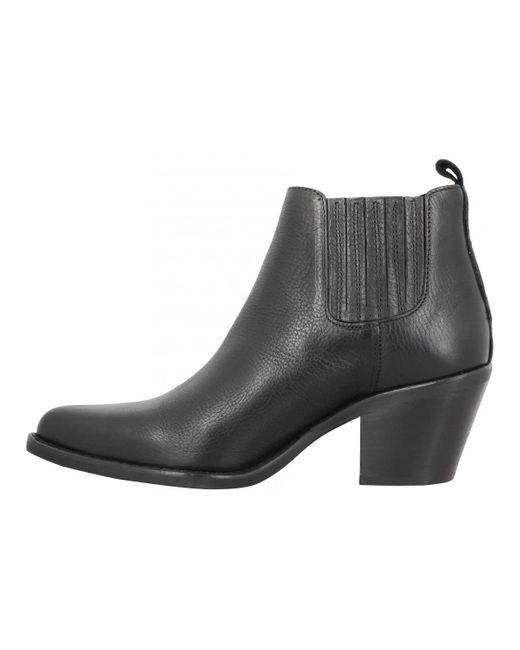 ER506 cuir Femme Black Bottines Semerdjian