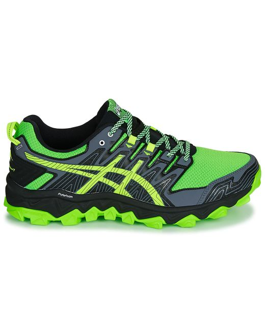 Asics Gel fujitrabuco 8 Men's Running Trainers In Green for