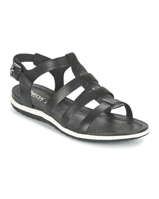 b687877ab5fe20 Geox - Black D Sand.vega A Sandals - Lyst ...