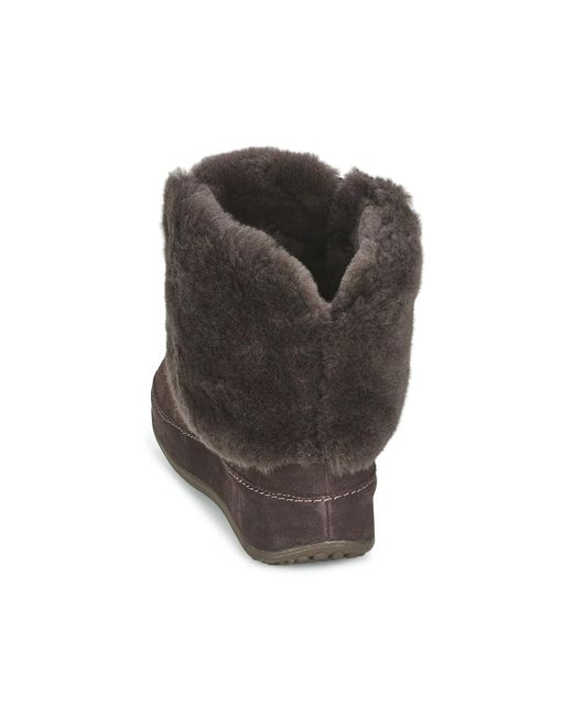 57a745546bc7f2 ... Lyst Fitflop - Mukluk Moctm Cuff Women s Low Ankle Boots In Brown ...