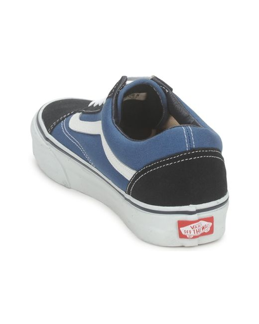 In Skool Trainers Blue Save 23Lyst Old Suede Classic Vans kTPiuZOX