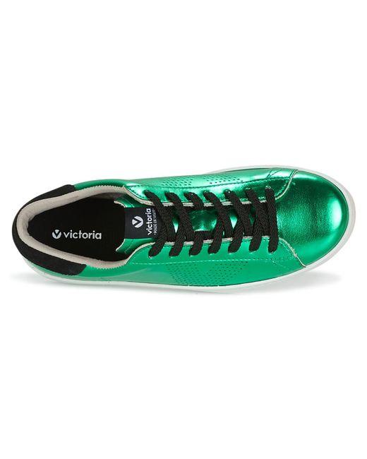 DEPORTIVO METALIZADO Chaussures Victoria en coloris Green