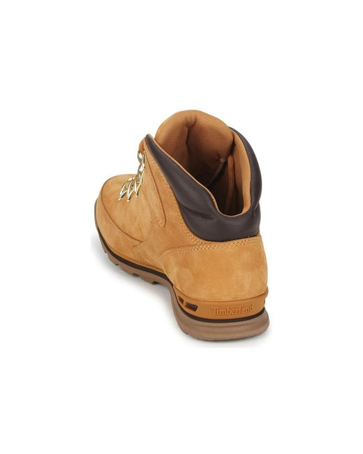 Timberland Leather Ek Euro Rock Hiker Men's Mid Boots In