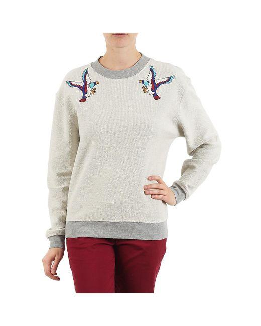 ELEVEN PARIS Gray Teaven Women Women's Sweatshirt In Grey