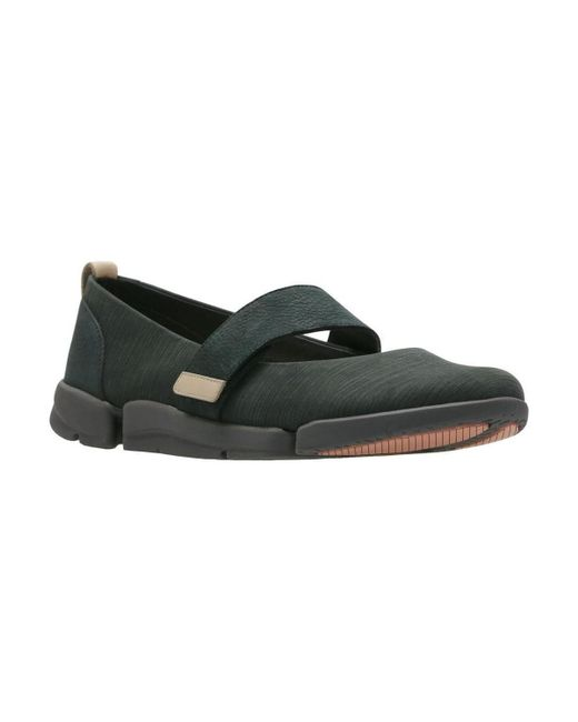 Clarks - Tri Carrie Womens Nubuck Leather Mary Jane Shoes Women's In Black for Men - Lyst
