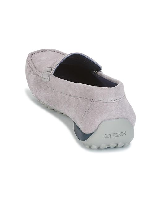 ... Geox - Gray Snake Moc A Men s Loafers   Casual Shoes In Grey for Men ... 7aa0825e2bbb