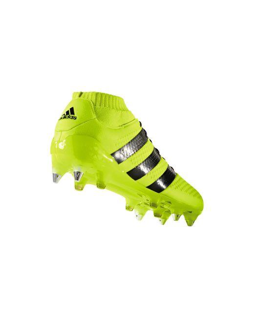 Ace 161 Primeknit hommes Chaussures de foot en jaune adidas pour ...