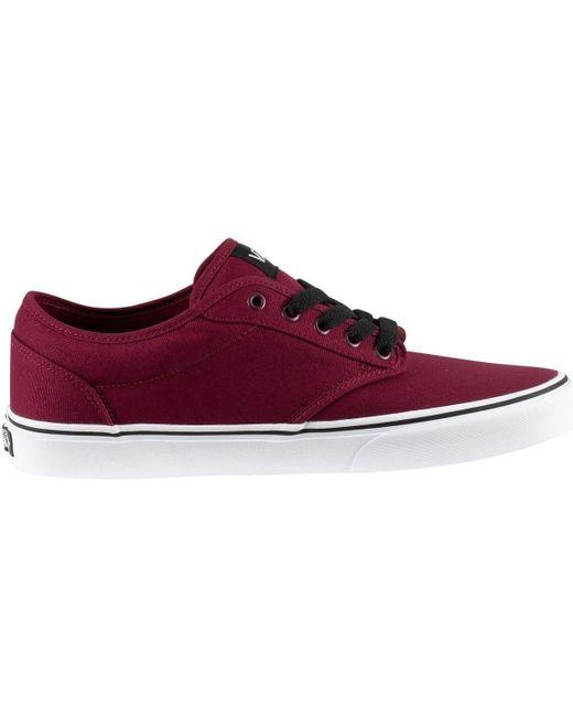 Pour des hommes Atwood Toile Trainers, rouge hommes Chaussures en ...