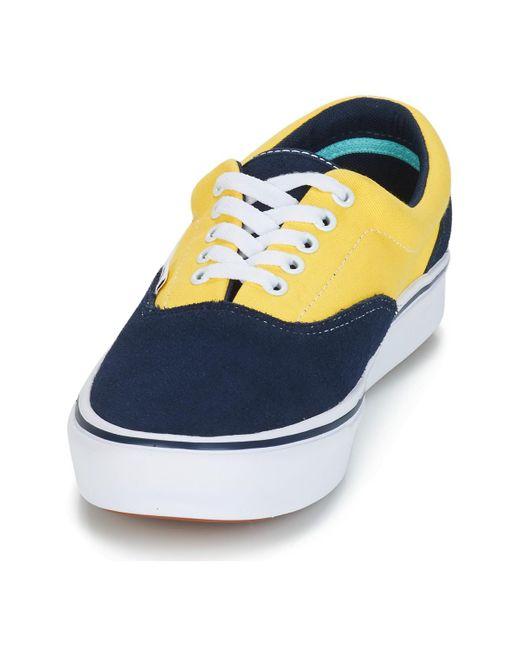 Comfycush Era Chaussure bleu homme / dorée Daim Vans pour homme en ...