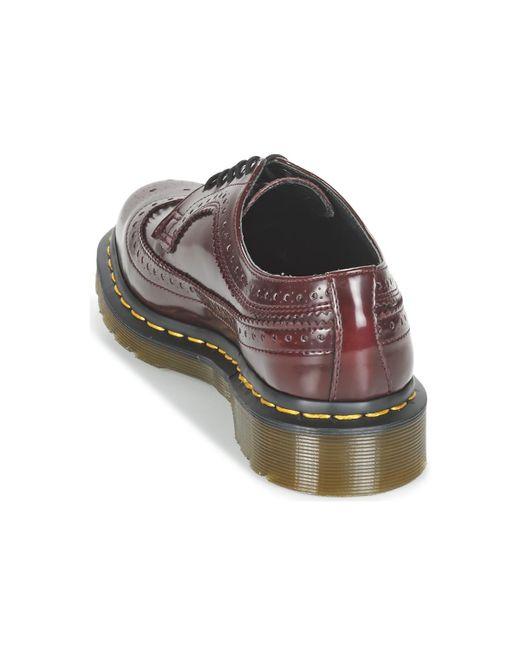 Chaussures pour homme Dr Martens VEGAN 3989 Rouge Cerise