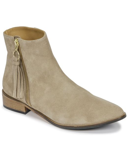 Emma Go - Natural Erin Women's Mid Boots In Beige - Lyst
