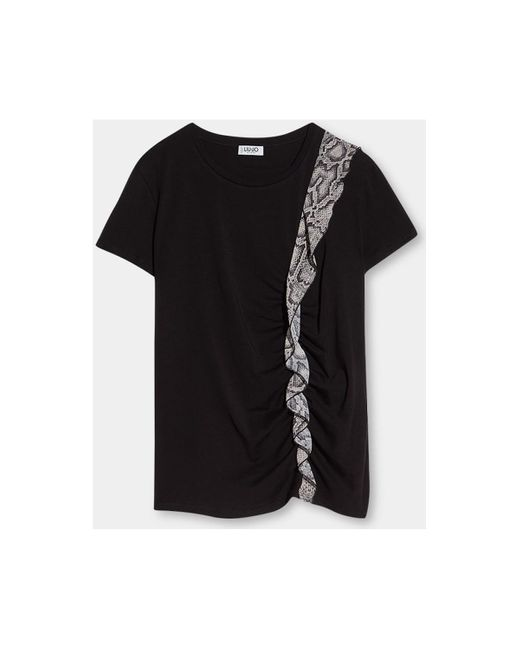 Camiseta WF1013 J7821 Liu Jo de color Black