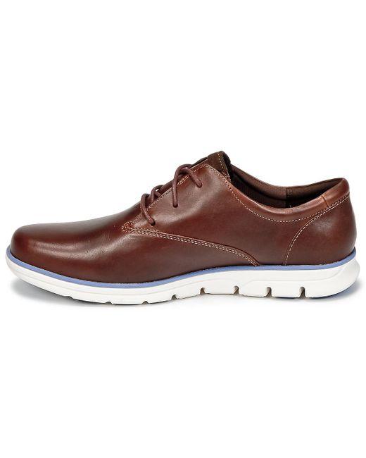 Timberland Bradstreet Oxford Shoes Brown | Mainline Menswear