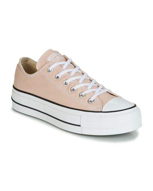 7c7299f7aeff Converse - White Chuck Taylor All Star Lift - Ox Women s Shoes (trainers)  In ...