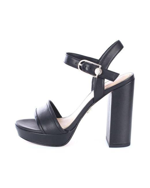 FW0FW05040 Vérifier Femme Noir Sandales Tommy Hilfiger en coloris Black