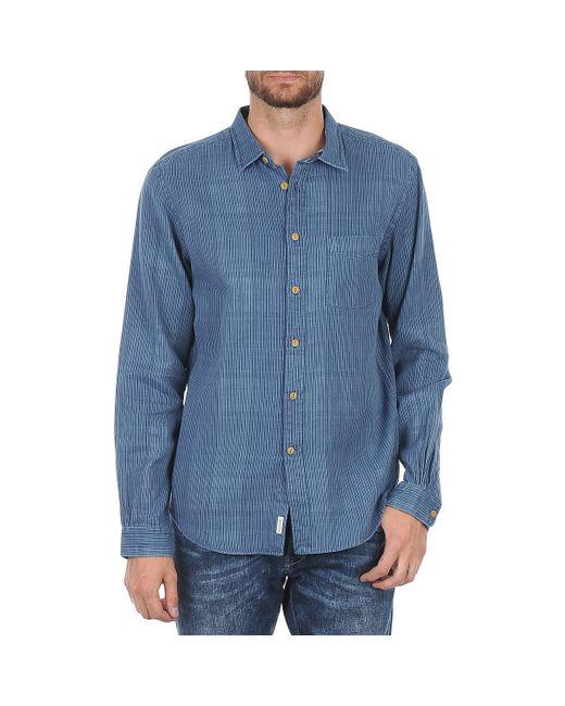 Façonnable - Jjmct502000ere Men's Long Sleeved Shirt In Blue for Men - Lyst