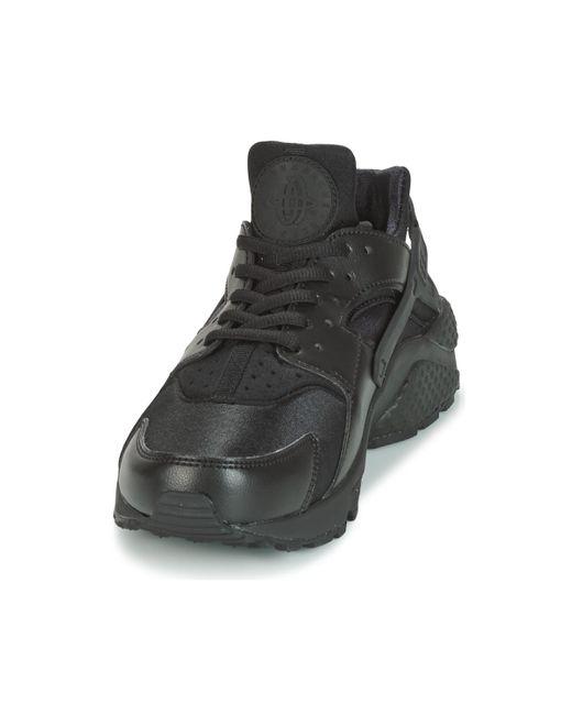 WMNS Air Huarache Run, Chaussures de Sport Nike en coloris Black