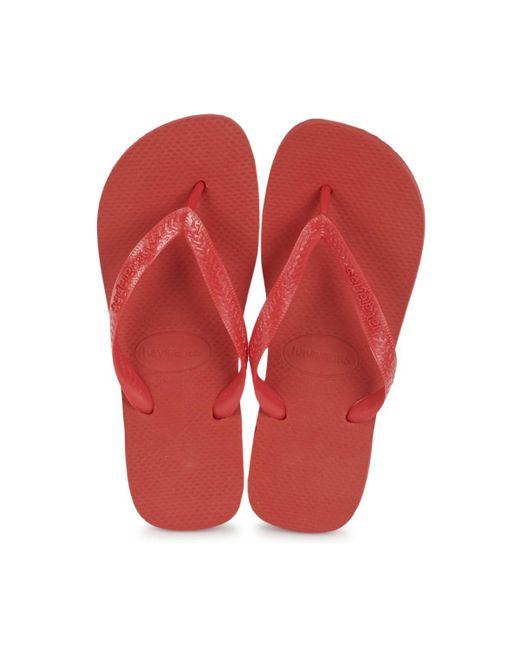 71eb5168f ... Lyst Havaianas - Red Top Flip Flops (black) Men s Sandals for Men ...