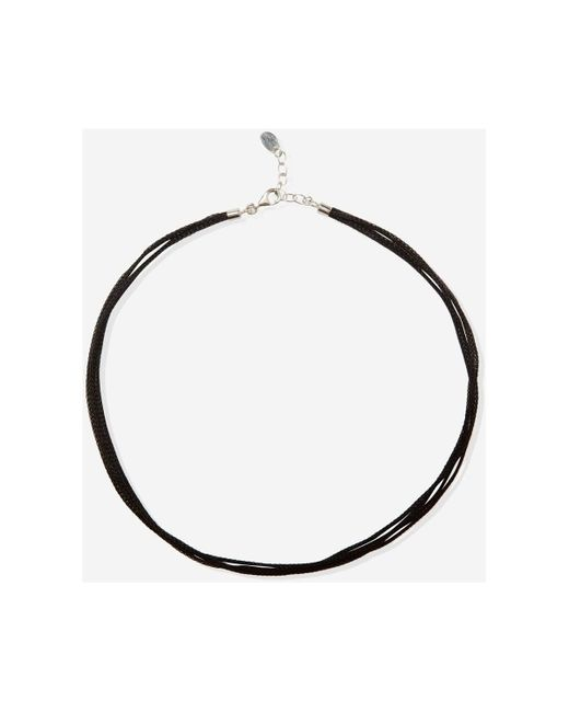 Collier Collier en argent 925 et Lurex ajustable Serena Maison Lurex en coloris Black
