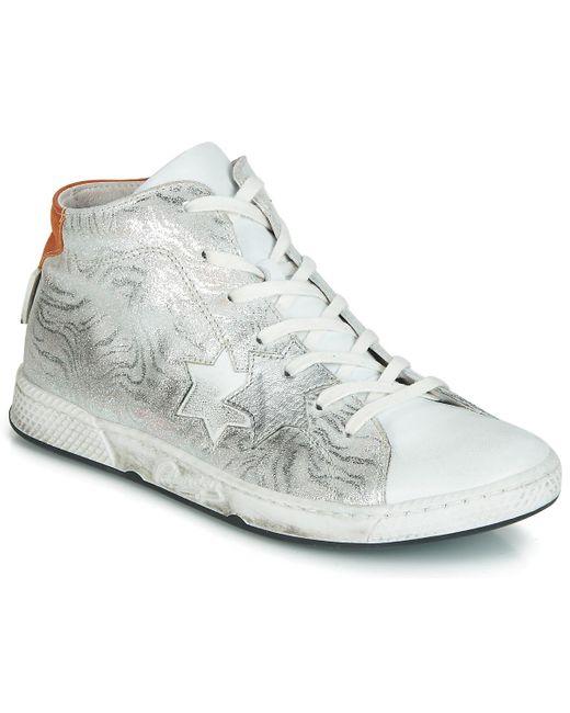 Pataugas Hoge Sneakers Joldy in het Metallic