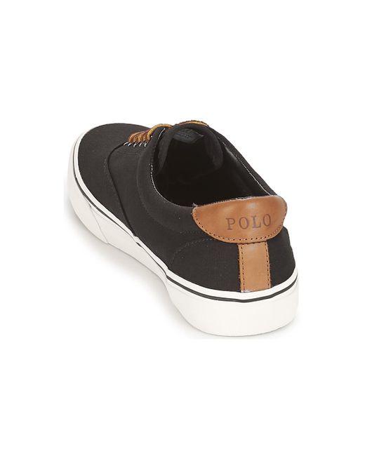 Polo Ralph Lauren Lage Sneakers Thorton Ne in het Black voor heren