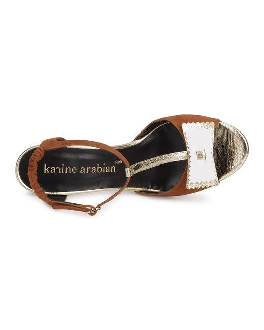 Karine Arabian Sandalen Abbazia in het Brown
