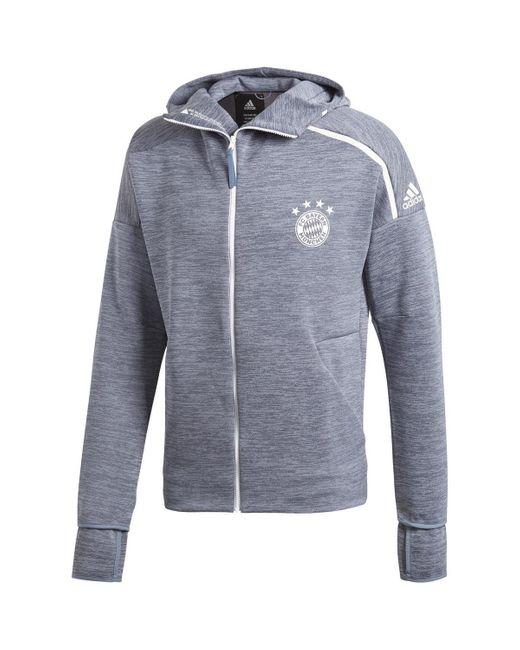 Veste Bayern Munich Zne 2018-19 hommes Veste en Gris Adidas pour homme en coloris Gray