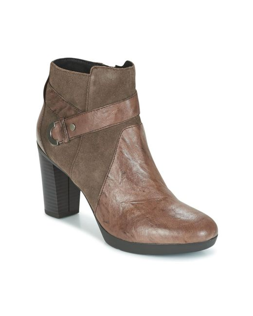 Geox - Brown Inspiration Leather & Suede Boot - Lyst