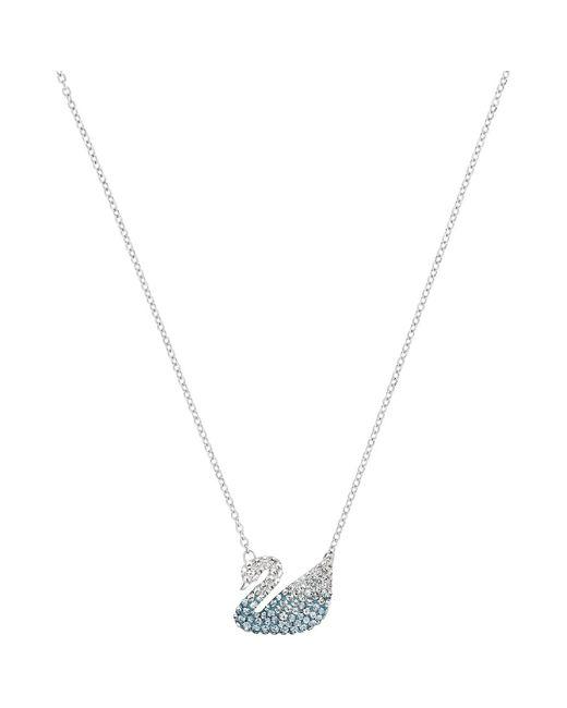 Collier Collier Iconic Swan blue Swarovski en coloris White