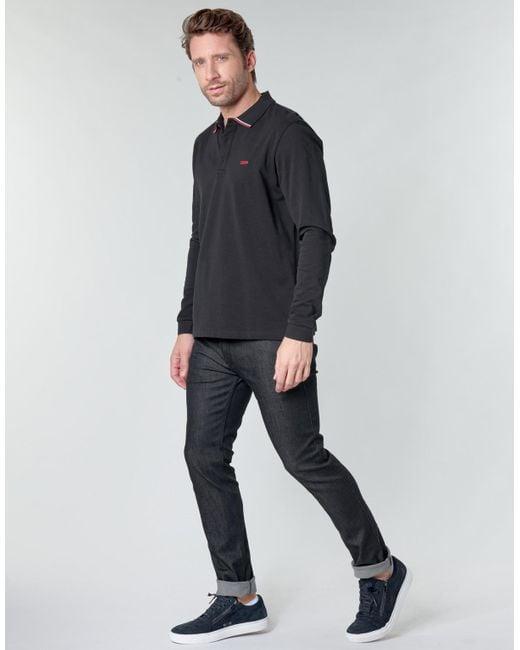 HUGO Straight Jeans 735 in het Black