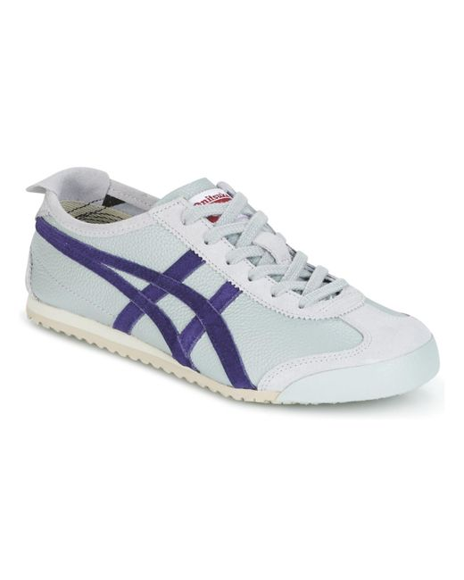 Onitsuka Tiger - Gray Mexico 66 Vin Leather Men's Shoes (trainers) In Grey for Men - Lyst