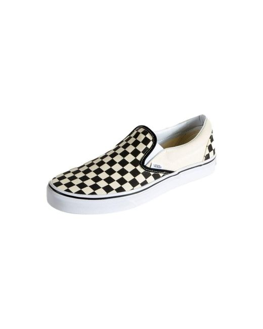 Basket Classic Slip-On Checkerboard Chaussures Vans en coloris ...