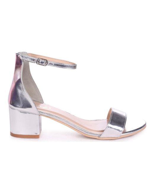 6d9928dc9f09 Linzi - Metallic Nadine Women s Sandals In Silver - Lyst ...