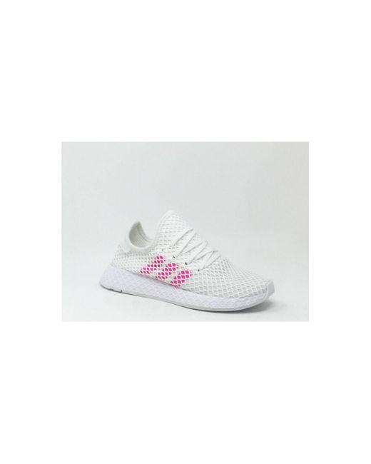 DEERUPT RUNNER BLANC/ROSE Chaussures Adidas en coloris Pink