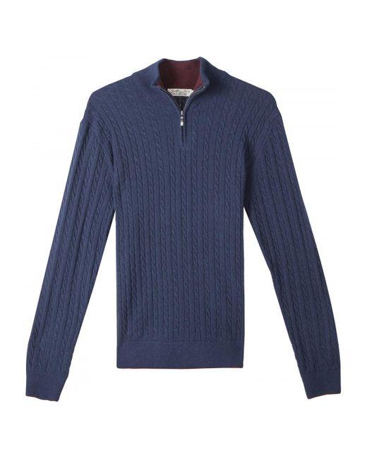 Pull LAON Gentleman Farmer pour homme en coloris Blue