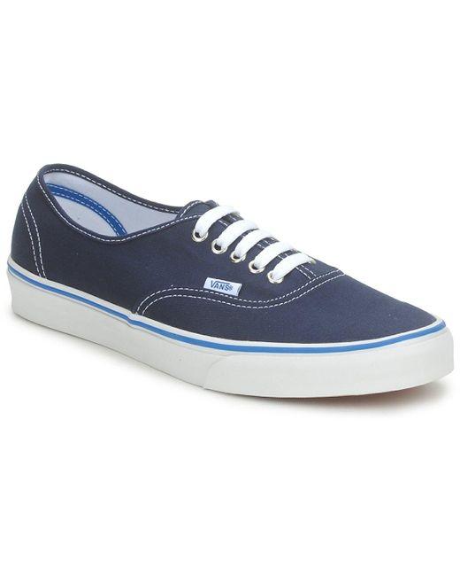 U Authentic , Baskets mode mixte adulte Toile Vans en coloris Bleu ...