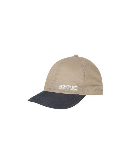 Regatta Brown Pack It Peak Cap White Cap